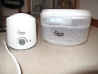 baby bottle warmer and steriliser, breast feeding cover and rear seat mirror