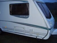Abbey Vogue GTS 4 Berth Caravan with Full sized Awning.