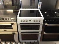 White 60cm electric cooker (Double oven)