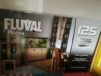 Fluval Roma aquarium 125L and 2-door oak cabinet. New.