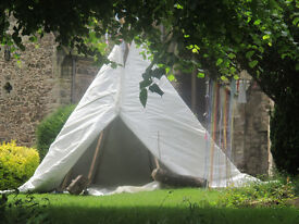 GUMBO 12 FOOT WHITE MAGIC WIGWAM TIPI YURT INSULATED UP ALL YEAR LONG STRONG DURABLE EX MILITARY