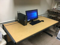 STURDY METAL FRAME WOODEN OFFICE / COMPUTER DESK (4 AVAILABLE)
