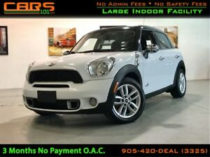 2012 MINI Cooper S Countryman |Pano Sunroof| Bluetooth|