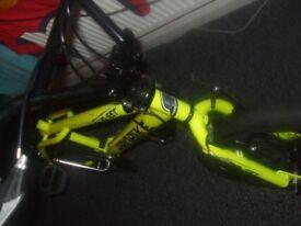 neon yellow bmx probike