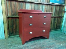 Rustic painted oak chest of drawers