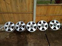 5 Genuine AUDI, VW, SKODA, SEAT... 16 inch Alloy Wheels