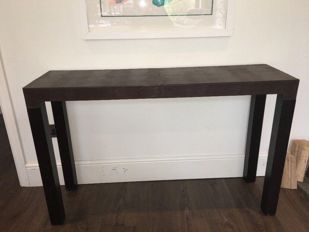 Feux brown animal skin and wood Sideboard