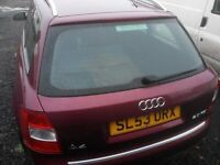 Audi A4 Avant 2.0 for parts or repair