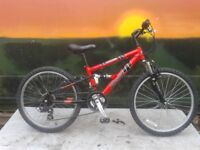 Dawes Ruction 24 inch Full Suspension Junior Mountain Bike