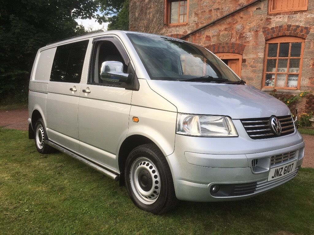 vw transporter t5 t32 factory kombi swb 174bhp tailgate 2 5 turbo diesel 6 speed manual silver. Black Bedroom Furniture Sets. Home Design Ideas