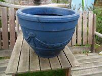 Garden Pot Planter Terraza Bell Pot-Blue Plastic Pot -900g