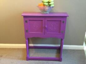 Purple console table / side table