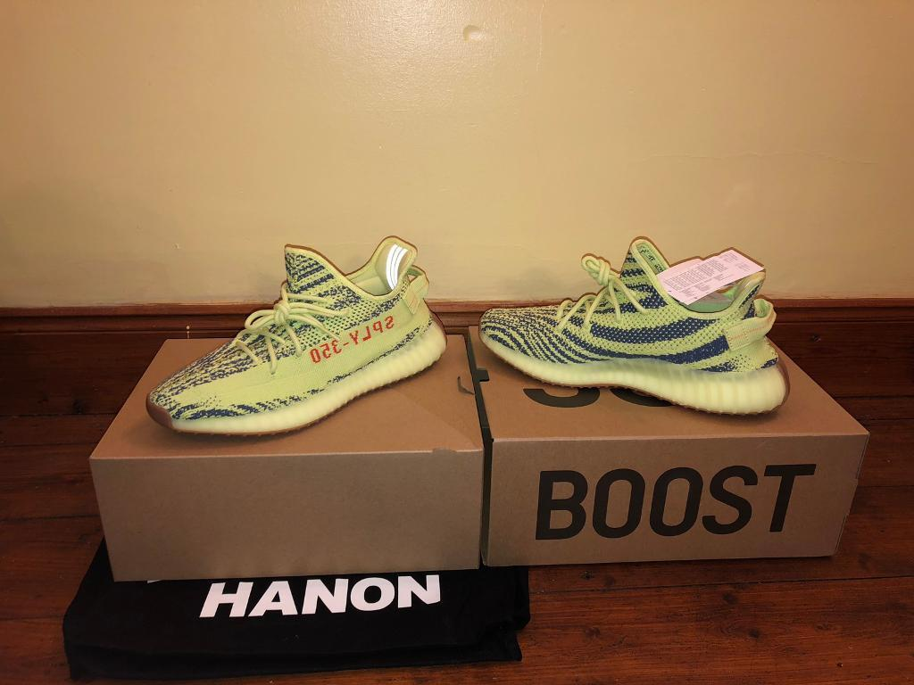 d92080a75af Adidas Yeezy Boost 350 V2 Semi Frozen Yellow  Yebra  UK 9.5 US 10 100%  Authentic