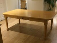 Solid Beech Dining/kitchen Table seats 6-8