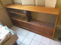 Vintage sideboard / teak bookcase - Mid century Herbert E Gibbs Autographed furniture