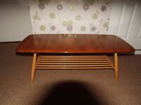 Original 1970s ERCOL coffee table, with magazine rack. Immaculate condition.