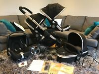 iCandy Peach 2 Blossom (Black Magic) + CarryCot + MaxiCosi Cabriofix
