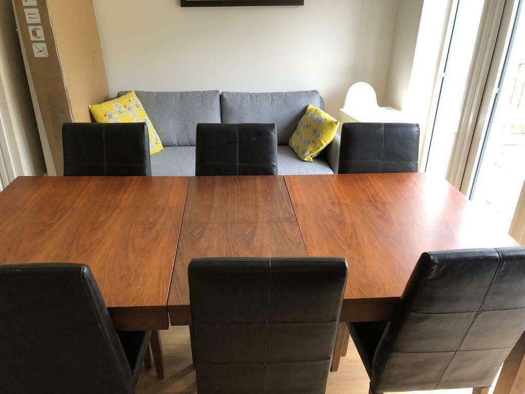 Astonishing Extendable Dinning Table Oak Effect 6 Chairs Leather Effect Argos Home In Horsforth West Yorkshire Gumtree Creativecarmelina Interior Chair Design Creativecarmelinacom