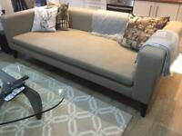Gorgeous 4 Seater Sofa Beige As New.