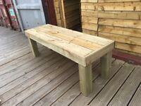 Hand Made Garden Bench