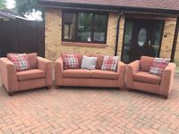 2 + 1 + 1 sofa with 2chairs - very good condition // free delivery