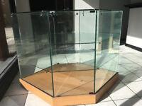 Hexagonal Glass Dispaly Cabinet
