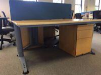Office Desk Furniture Set-Chair, desk and filing drawer set