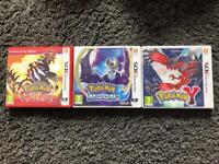 Pokemon y, omega ruby and Moon