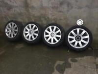 audi volkswagen rs4 style alloys 6/7mm 225/45/17