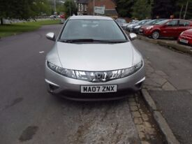 Honda Civic 1.8i Vetec SE 5 door hatchback lovely car with alloys, comes with 12 months MOT