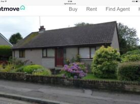 Alloway 3 bed spacious detached bungalow garage, large shed , mature gardens. New carpets and paint