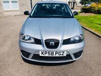 2009 Seat Ibiza 1.4 Diesel 58 Plate..Mot October 2018 no Advisory..FSH Bluetooth...Aux..£1750