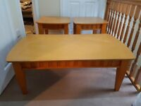 matching coffee table and matching lamp tables