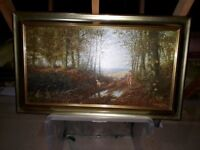 Original OIL painting by C.B.STAGG 1987 in beautiful frame