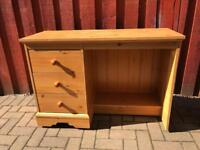 Dressing table desk with 3 drawers