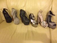 six pairs size 5 shoes. £75 the lot