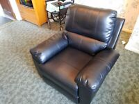 Argos Home Toby Faux Leather Manual Recliner Chair - Black