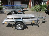 New 3 Motorbike Trailer 750kg
