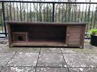 Large rabbit hutch with removable wooden house
