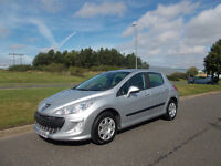 PEUGEOT 308 S HATCHBACK NEW SHAPE 2009 STUUNING SILVER ONLY 74K MILES BARGAIN 2350 *LOOK*PX/DELIVERY