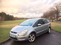 2006/56 FORD S-MAX 2.0TDCI TITANIUM, DIESEL, 6-SPEED MANUAL, 7-SEATER MPV**GENUINE 89,000 MILES ONLY