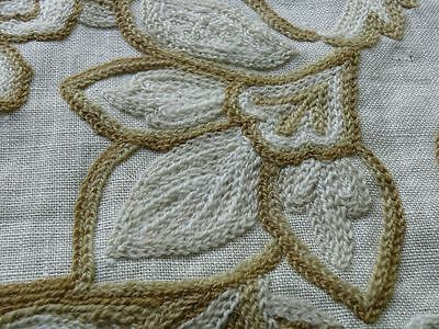 CLARENCE HOUSE CREWEL PAISLEY BROWNS ON CREAM BTY MSRP$310/Y #1336
