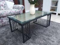 For sale: Glass top coffee table