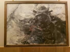Hand painted samari warrior