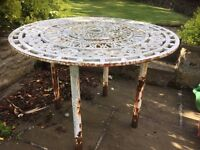 Cast Iron Table in need of Restoration.