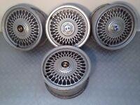 "BMW cross-spoke (style 17) 15"" 5x120 7j deep dish alloy wheels, not bbs borbet, ats TM AUTO REPAIR"