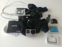 Gopro Silver Hero 4 with bundle
