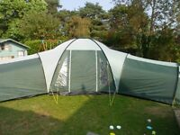 Large 12 man tent with 3 sleeping pods, very spacious.