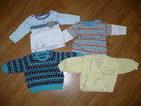 Bundle of 23 baby boy clothes 3-6mths.