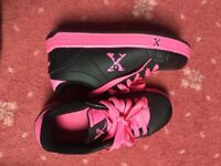 Heelys. Size 3. Sidewalk Sports. Pink and Black.
